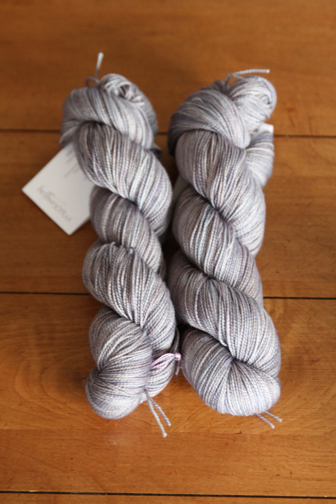 Mockingjay the special color way in Mad Tosh for the Joji and Veera Knit America 2015