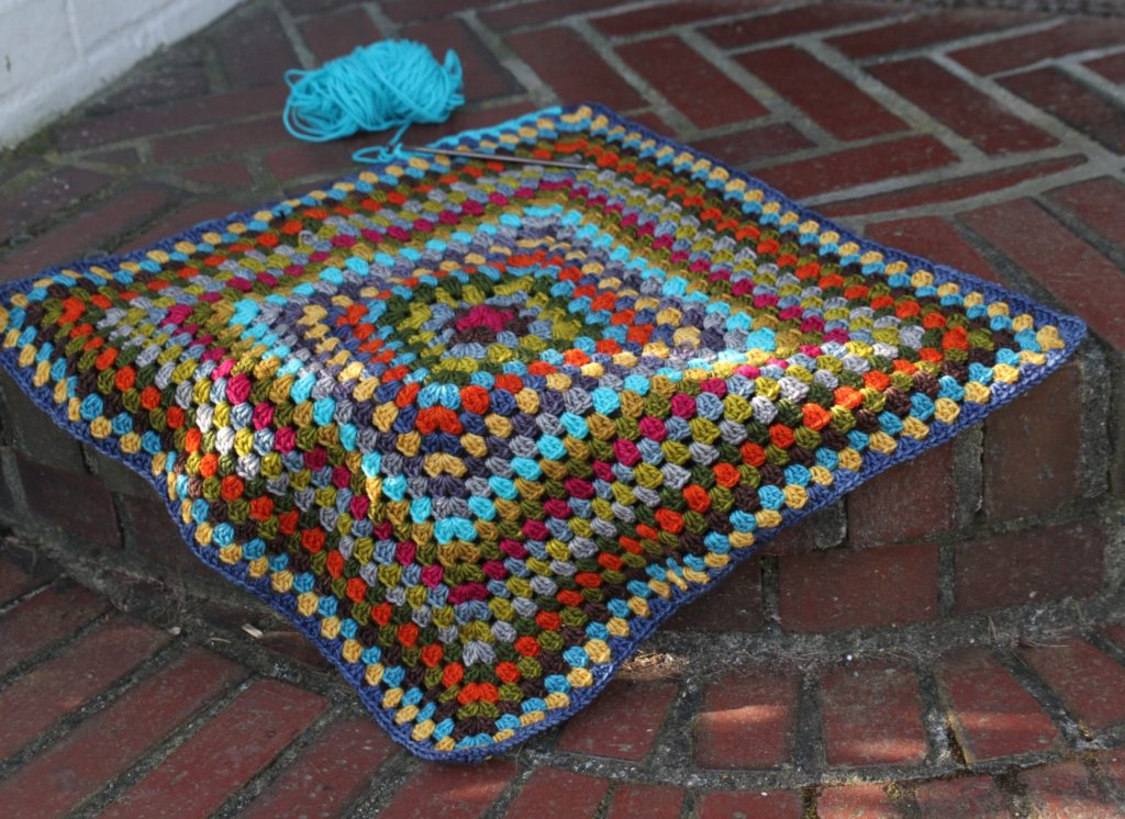 My One Big Grannie Square  blanket by Churchmouse Yarns and Teas