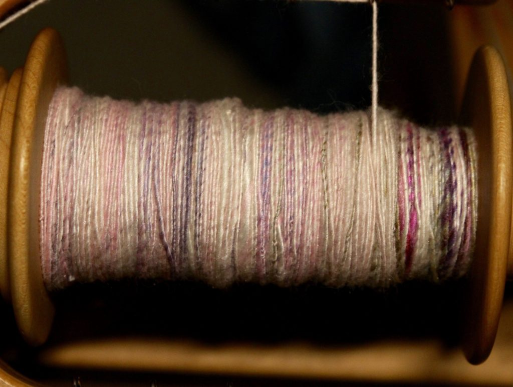 What a difference prepping the fiber makes! It was so much easier to control how much fiber I was spinning.