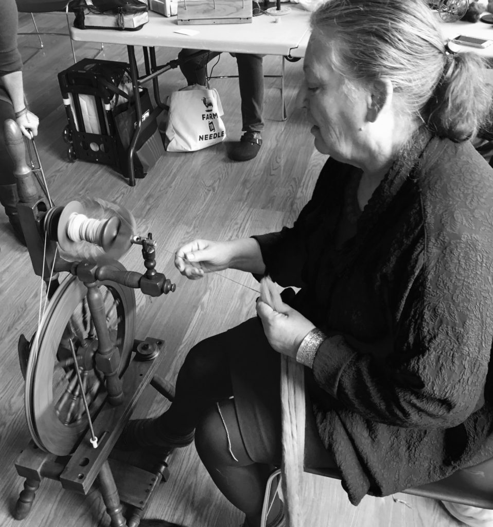 Spinning for Socks class with Judith